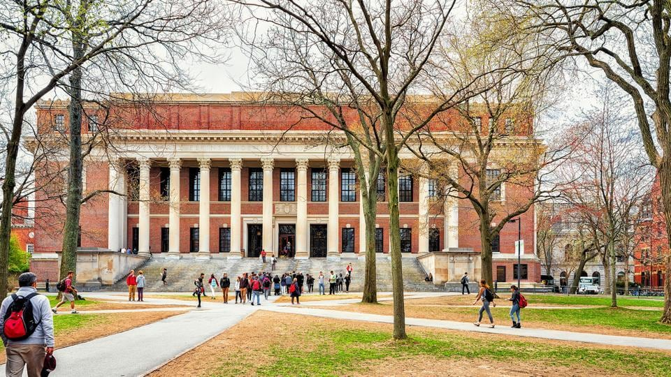 The Widener Library at Harvard Yard of Harvard University, Cambridge, Massachusetts, USA. A new study has found that Hindus are the most educated religious group in the US.