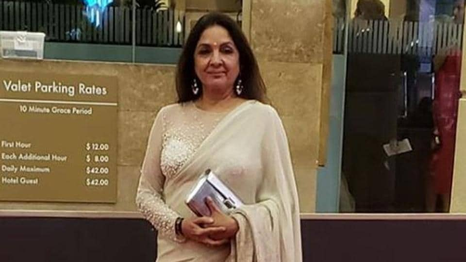 Neena Gupta at the Golden Globes Awards after-party.