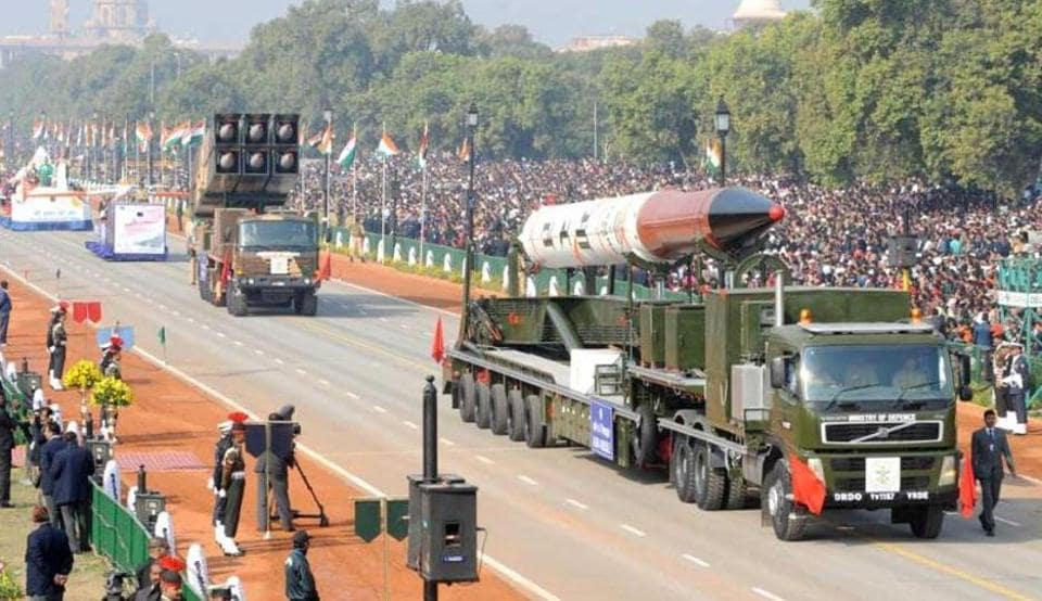 Agni IV missiles displayed during the Republic Day parade in New Delhi. India today has more number of missiles and more accurate ones.