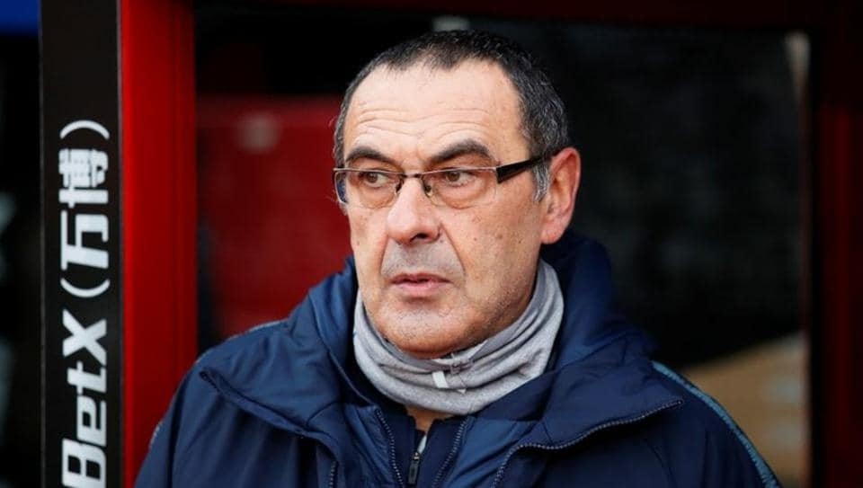 Chelsea manager Maurizio Sarri before the match