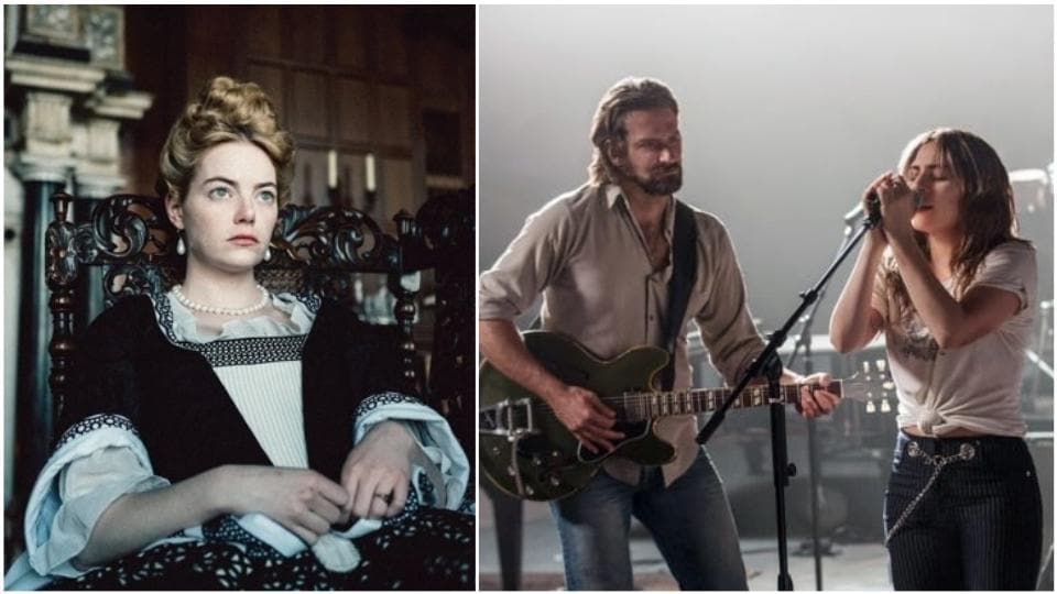 Emma Stone's The Favourite was nominated in 12 categories at the BAFTAs while Lady Gaga and Bradley Cooper's A Star Is Born got nominated in seven categories.