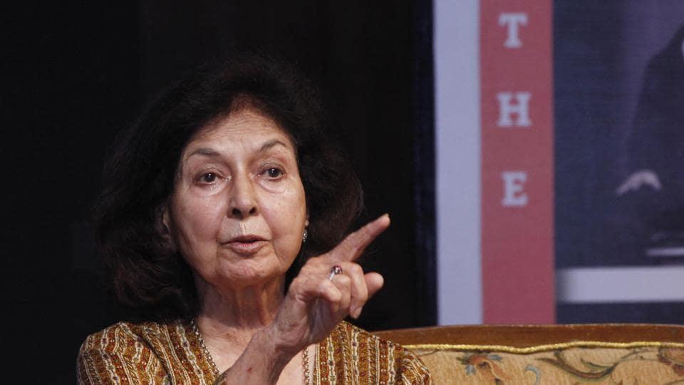 English writer Nayantara Sahgal