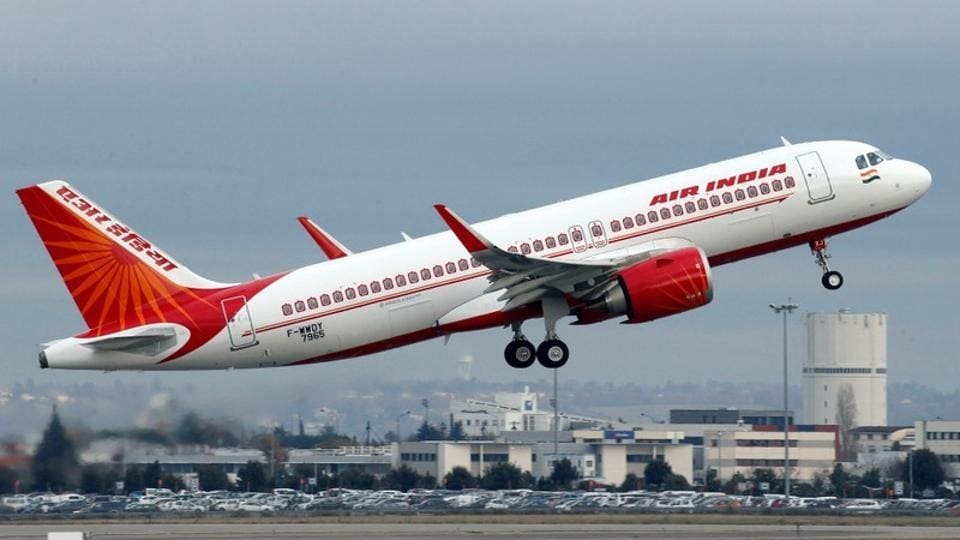 An Air India Airbus A320neo plane takes off in Colomiers near Toulouse, France.