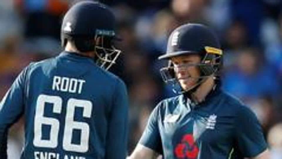 File image of England Test skipper Joe Root and ODI skipper Eoin Morgan.