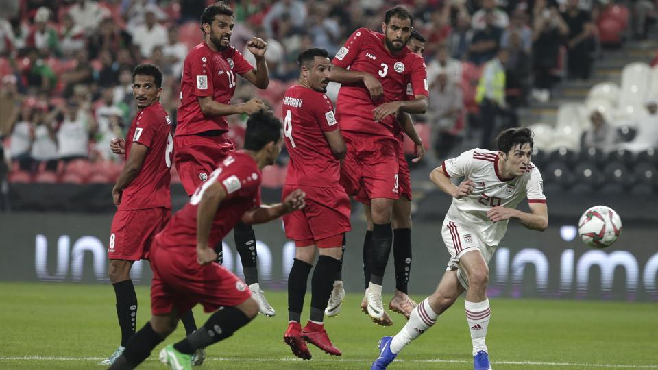 File photo from the 2019 Asian Cup match between Iran and Yemen.