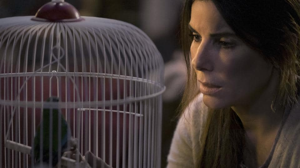This image released by Netflix shows Sandra Bullock in a scene from the film, Bird Box.