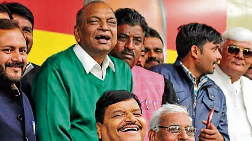 Pragatisheel Samajwadi Party (Lohia) president Shivpal Yadav during a press meet in Lucknow on Wednesday