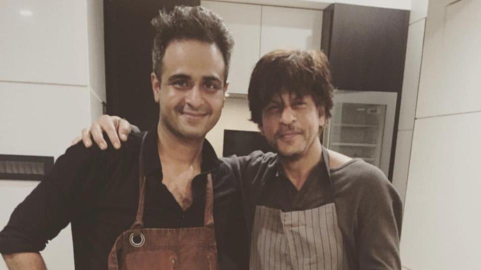 Chef Rishim Sachdeva (left) with Shah Rukh Khan.