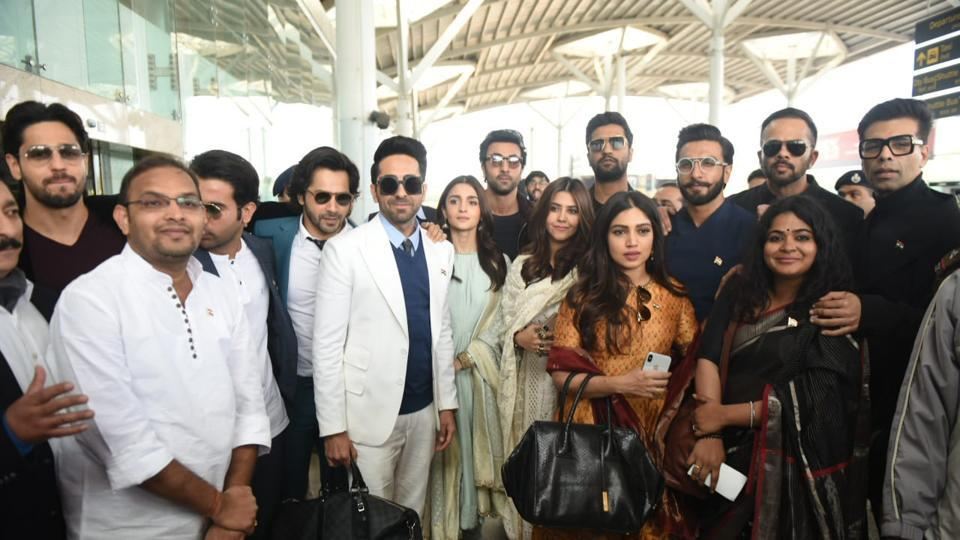 Alia Bhatt and Ranbir Kapoor are a part of a delegation of Bollywood celebs who are in New Delhi to meet the Prime Minister.