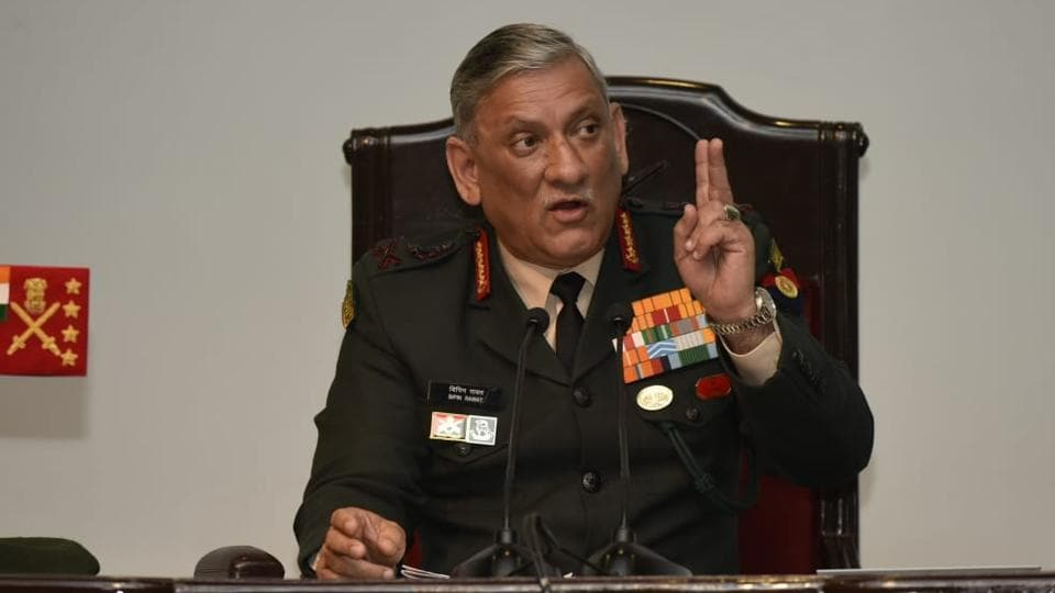 Taliban,Army,Bipin Rawat