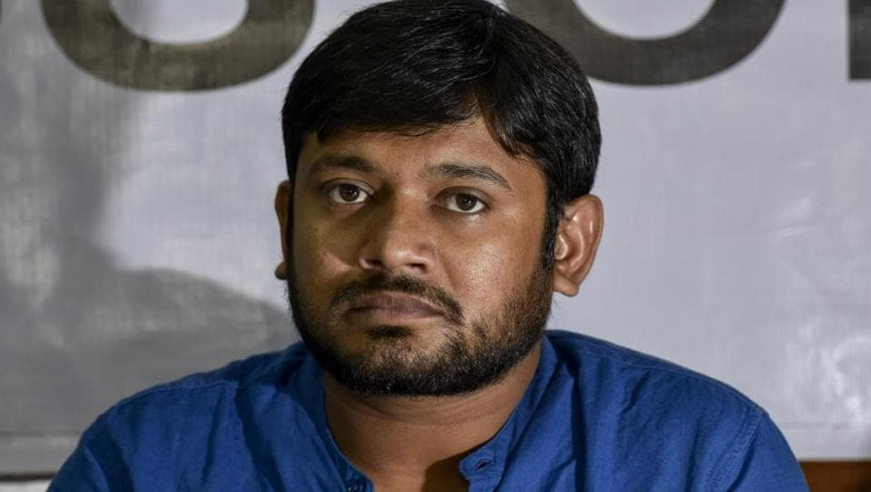 Kanhaiya Kumar (pictured), Umar Khalid and Anirban Bhattacharya were arrested in 2016 in a sedition case for allegedly organising an event in Jawaharlal Nehru University campus against the hanging of Parliament-attack mastermind Afzal Guru.
