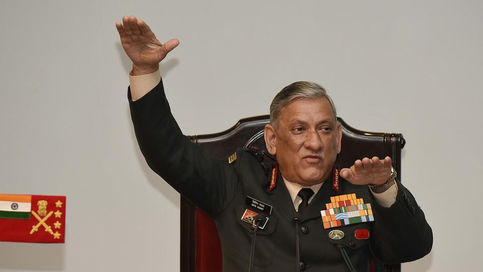 Army chief General Bipin Rawat addressing a annual press conference at Manekshaw Centre in New Delhi.