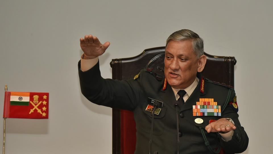 "Indian Army chief General Bipin Rawat said if other countries are talking to the Taliban and India has an interest in Afghanistan, then ""we should also join the bandwagon"" but the same analogy cannot be applied to Jammu and Kashmir. His comments came after former chief ministers J&K Omar Abdullah and Mehbooba Mufti wondered why the Centre was not initiating a dialogue with separatists in the state. (Vipin Kumar / HT Photo)"