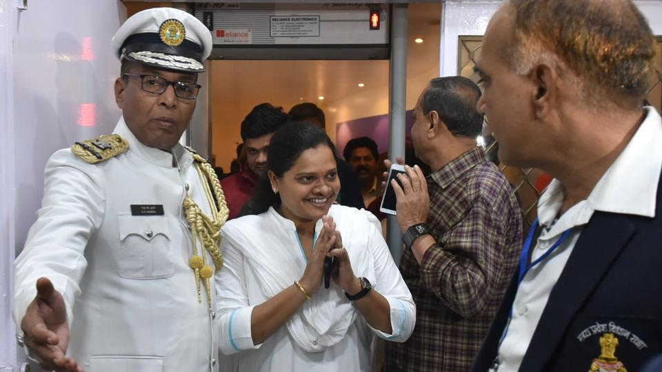 Congress MLA Hina Kawre after being elected as the deputy speaker of the state assembly, in Bhopal, Madhya Pradesh, India, on Thursday, January 10, 2019.