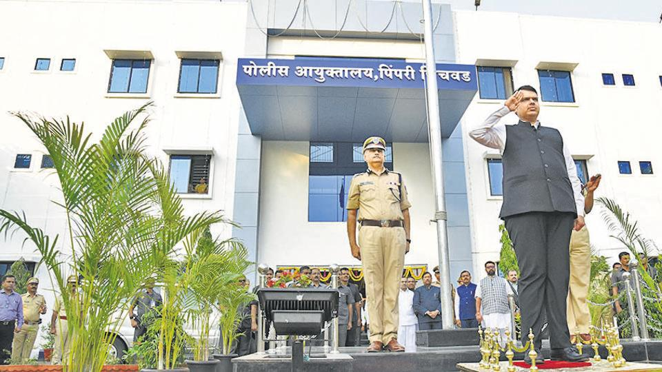 CM Devendra Fadnavis inaugurated the police commissioner's office at Chinchwad on Wednesday.