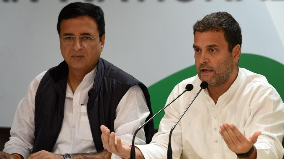 Randeep Surjewala had reportedly refused to contest but was asked by Rahul Gandhi himself to fight the January 28 bypoll, sources said.
