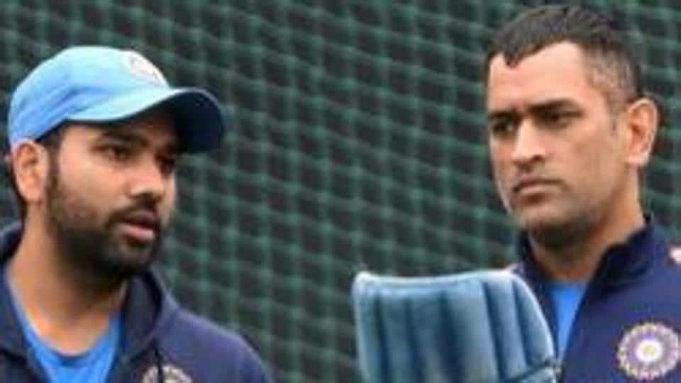 File image of Rohit Sharma and MS Dhoni