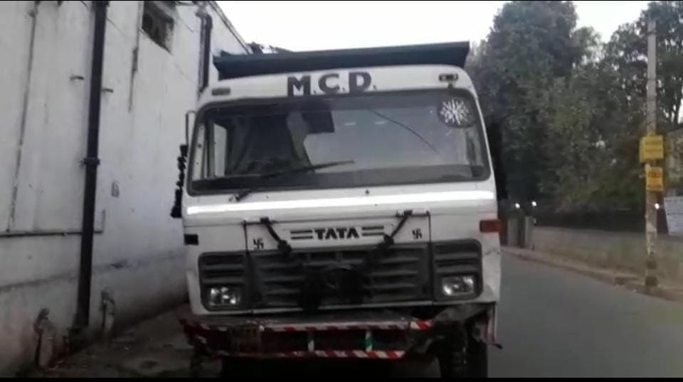 Police said the accused, who was driving the garbage dumper,  was working for a firm outsourced by the North Delhi Municipal Council to collect and dump garbage.
