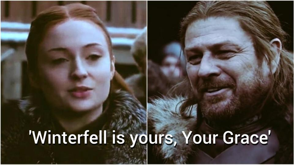 Game of Thrones,Ned Stark,Sansa Stark
