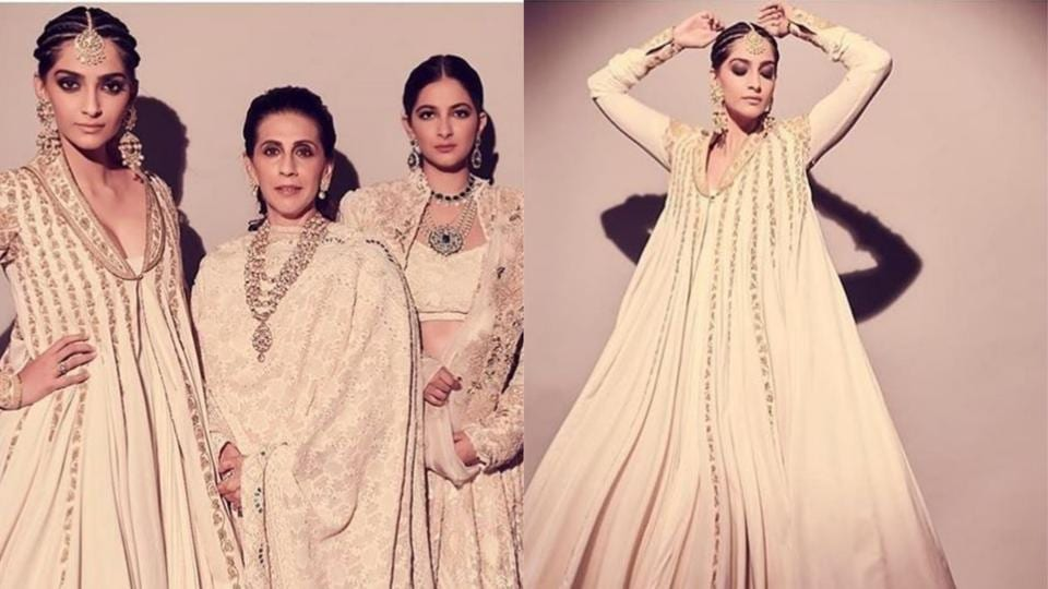 Image result for sonam with mother and sister
