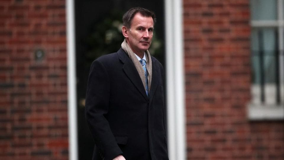 Britain's Foreign Secretary Jeremy Hunt arrives in Downing Street, London, Britain.