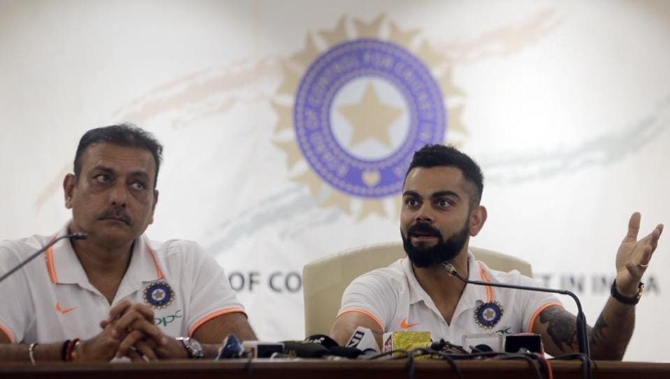 File picture of Virat Kohli and Ravi Shastri