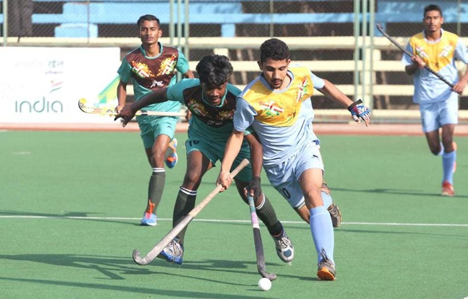 Maharashtra were the superior team but surprisingly allowed their weak opponents to score three times. (HT PHOTO)