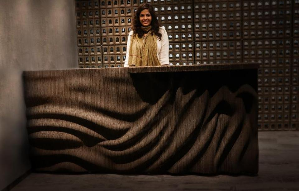 Artist Bandana Jain uses corrugated cardboard to recreate childhood memories, with a message of sustainability woven in.