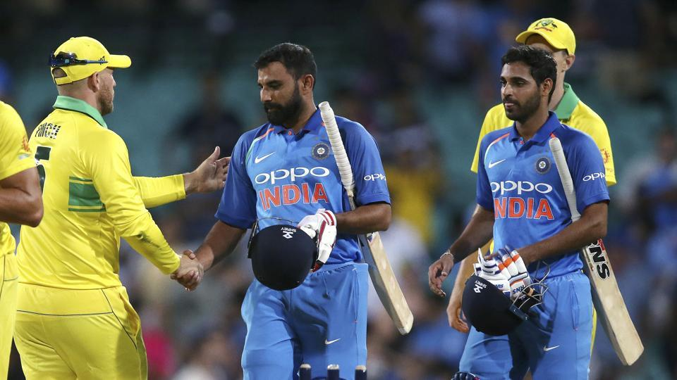 India Vs Australia 1st Odi At Scg Highlights As It Happened