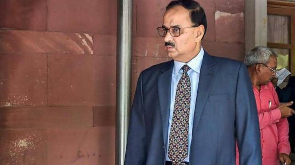 In this file photo dated July 30, 2018, shows Central Bureau of Investigation Chief Alok Verma at Supreme Court in New Delhi. The Supreme Court reinstated Alok Kumar Verma as CBI Director and set aside the Centre's decision divesting him of his powers and sending him on leave. (PTI Photo/Ravi Choudhary) (PTI1_8_2019_000109B)