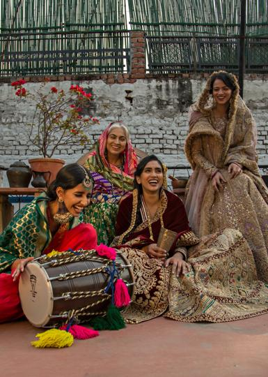 New Delhi, India : (Left to Right) Model Bhavya, Sapna Dutta, Ninja Singh and Deepika Singh pose for the special Lohri feature for HT CITY at 7 Jantar Mantar Road in New Delhi on Thursday 10 January 2019. (Photo: Jasjeet Plaha)