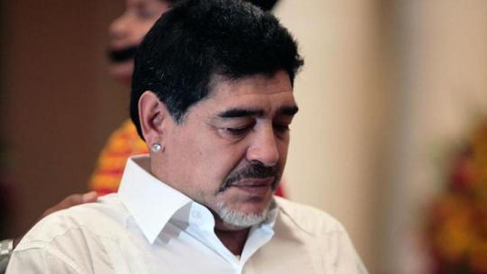 File image of Argentine football legend Diego Maradona.