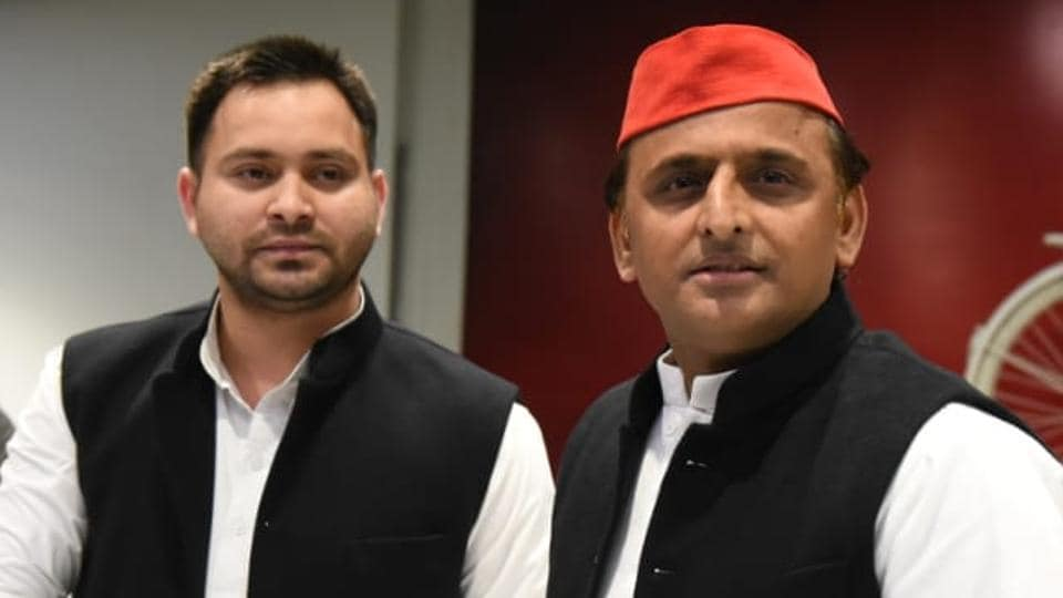 RJD vice president Tejashwi Yadav at a press conference with SP chief Akhilesh Yadav said that his party fully supported the SP-BSP alliance in UP.