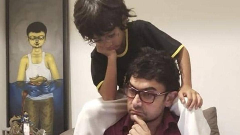 Aamir Khan with son Azad Rao Khan in new Instagram picture.