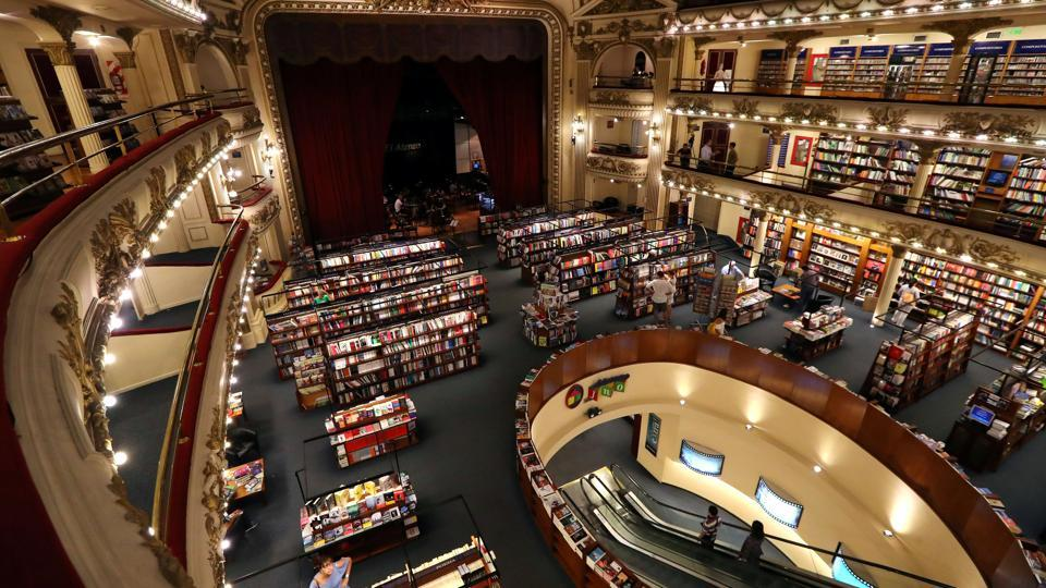A view of El Ateneo Grand Splendid bookstore, in Buenos Aires. In the downtown neighbourhood of Recoleta in the Argentine capital is the Ateneo Grand Splendid, a theatre converted into a bookstore and named the world's most beautiful at that by the National Geographic magazine in its first issue of 2019. (Marcos Brindicci / REUTERS)