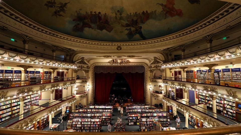 By 1924, Glücksmann was also running a radio station out of the upper section of the 1,050 seater building and an interest in cinema led him to covert the live theatre into the most opulent cinema experience in Buenos Aires. (Marcos Brindicci / REUTERS)