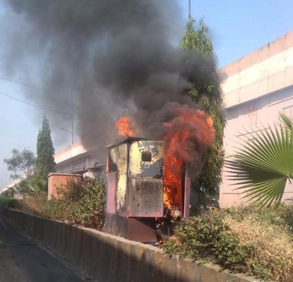 One person died in a major fire of DP box at Dange chowk, Thergaon in Pune on Sunday.