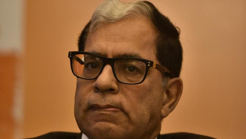 Justice AK Sikri of the Supreme Court at the launch of a book in New Delhi, India, on May 14, 2018.