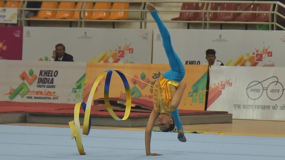 Ending the tournament on a high, Maharashtra's Under-17 and Under-21 gymnastics teams walked away with the overall title in both categories by a comfortable margin ahead of closest rivals West Bengal and Uttar Pradesh.  (HT PHOTO)