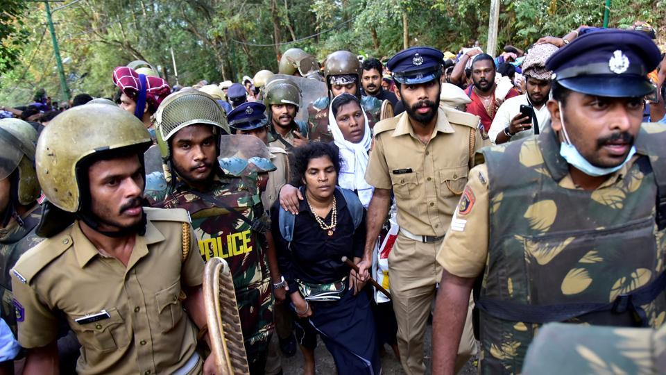 Kanaka Durga, 44, one of the two women who made history by becoming the first in centuries to enter the Sabarimala hill temple in Kerala, was attacked by relatives on her return home in Perinthalmanna on Tuesday morning. She has been admitted to a hospital. (REUTERS File)