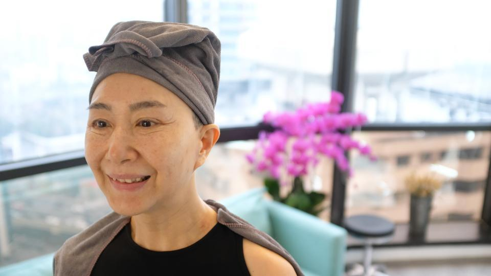 "Ma Yinhong during a visit to a salon in Shanghai. ""I never go out without dressing up and getting made up. I never let myself look like an old granny,"" Ma told AFP at a recent show for Uooyaa, which used a mix of younger Chinese and foreign models, as well as seniors. ""They save me as 'best for last' in fashion shows after young models, so I am quite visible,"" Ma said. (Matthew Knight / AFP)"