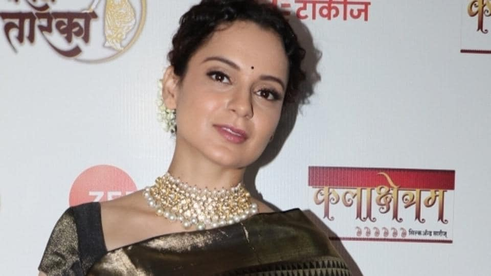 Mumbai: Actress Kangana Ranaut at Marathi Taraka awards 2019 in Mumbai on Jan 13, 2019. (Photo: IANS)
