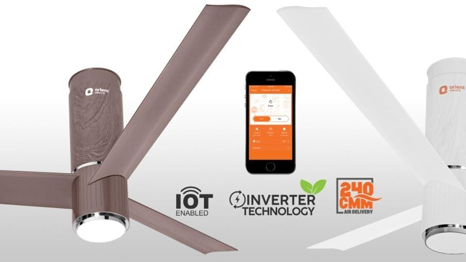 Orient Launches Smart Ceiling Fan In India Supports