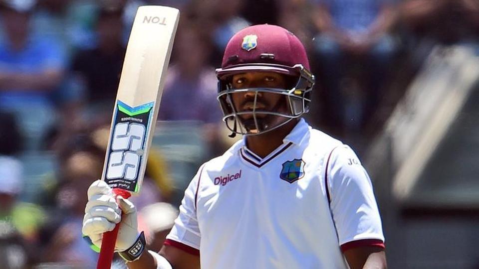 West Indies batsman Darren Bravo acknowledges the applause after scoring his half century against Australia.