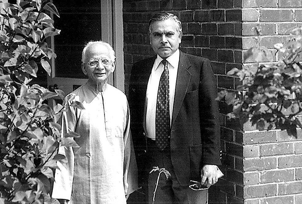 K Natwar Singh (R) with Nirad C Chaudhuri.