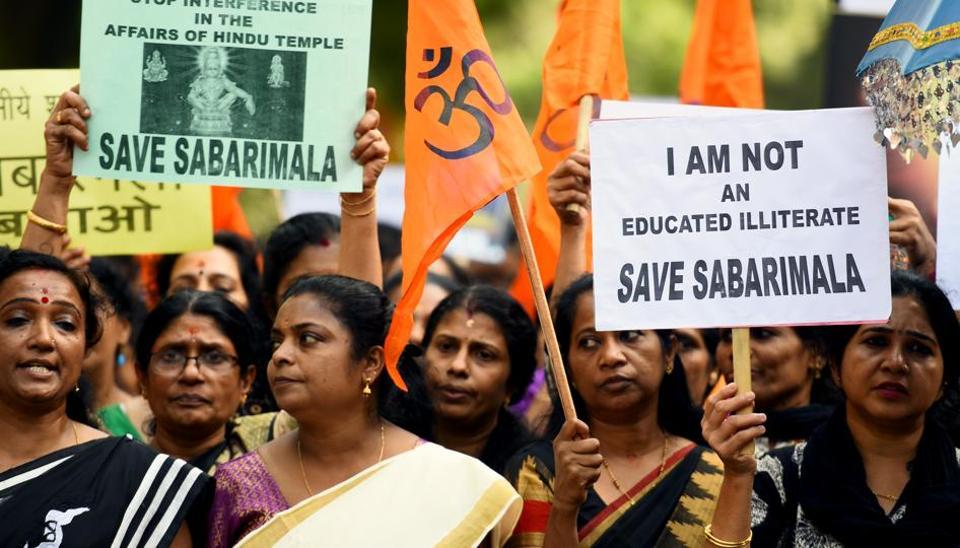 sabarimala issue,sabarimala tension,sabarimala protest