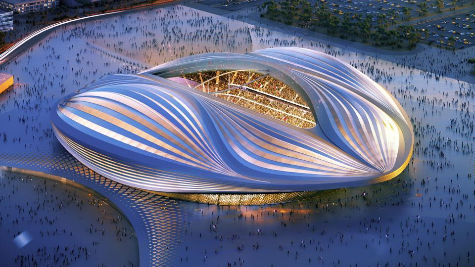 An artists impression of a 2022 World Cup venue.