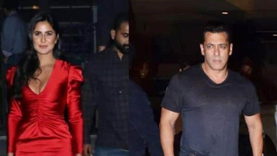 Katrina Kaif and Salman Khan ahead of Bharat teaser launch.