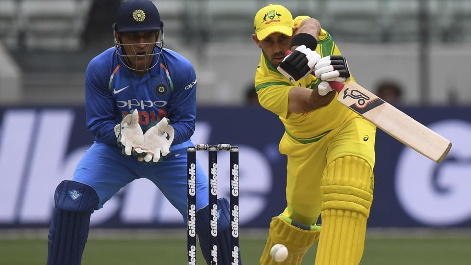 Australia's Glenn Maxwell during their one day international cricket match against India in Melbourne. (AP)