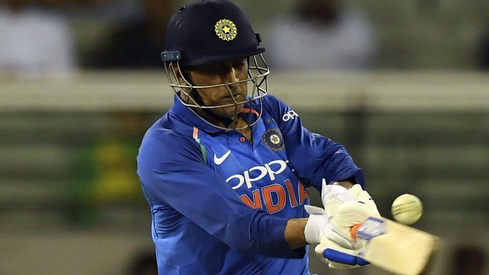 MS Dhoni bats during their one day international cricket match against Australia in Melbourne. (AP)